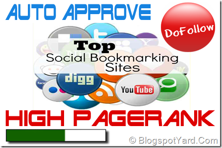 Best High PR Social Bookmarking Submission Sites List